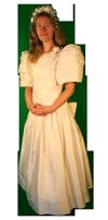 Bruidsjurk theater kledingverhuur