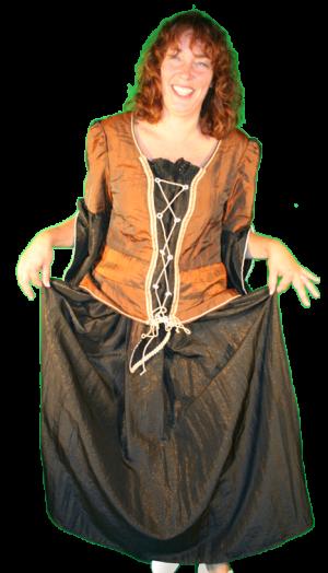 middeleeuws kostuum rijk volk