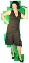 Jaren 70 jurk huren AttiQ kledingverhuur Zaltbommel