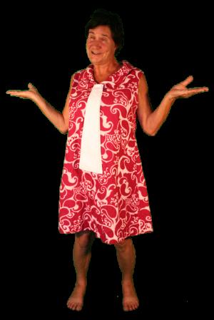 Jaren 70 kleding huren jurk rood met wit kledingverhuur
