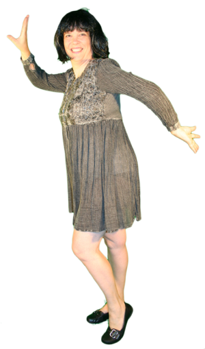 Jaren 70 jurk AttiQ Kledingverhuur Kostuum Huren
