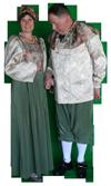 Middeleeuws Paar Vrouw Kostuum Huren AttiQ Kledingverhuur