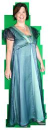 Gala Avondjurk Huren Groen Blauw AttiQ Kledingverhuur