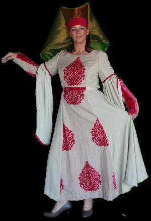 Middeleeuws Kostuum Rijke Vrouw Maat 42