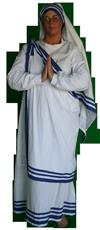 Historisch figuur moeder Theresa kostuum huren 1450