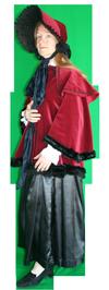 Charles Dickens kostuum huren vrouw 573