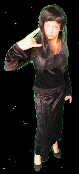 Gala Gothic kostuum huren 323