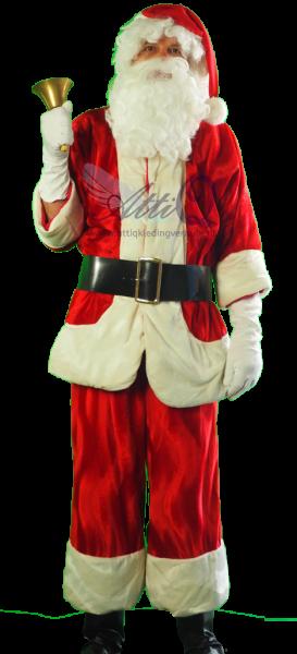 Kerstman Luxe gewatteerd kostuum huren 189