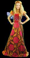 Middeleeuws Jonkvrouw Kostuum 1505