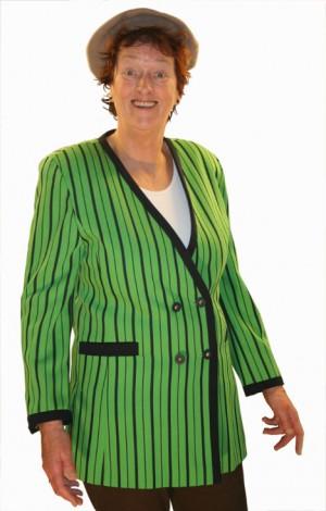 Jassen damescolbert groen gestreept huren 444