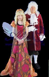 Middeleeuws jonkvrouwtje 1505 en lakei 1696