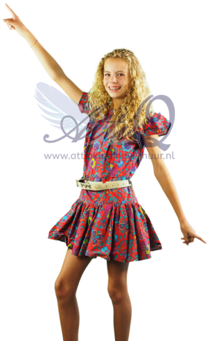 Jaren 60 Rock 'n Roll kind jurk 1659